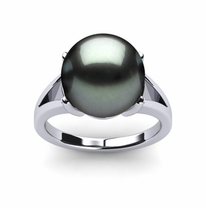 Tahitian Pearl Ring Prong Style