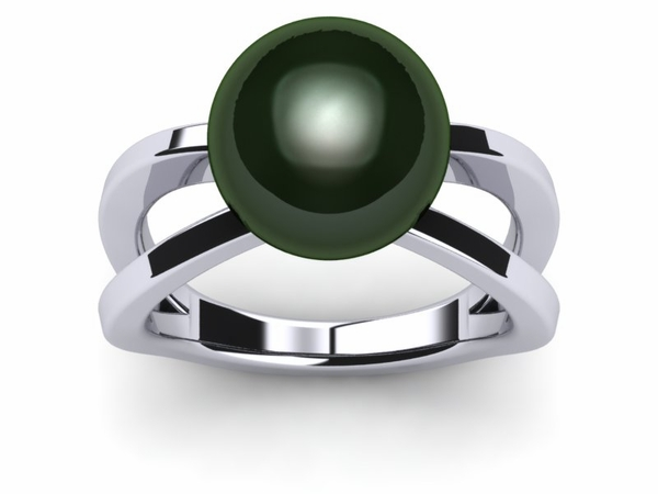 Tahitian Pearl Ring Saturn