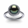Tahitian Pearl Ring Twisted Cable