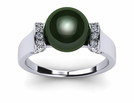 Tahitian Pearl Gemstone Tension Ring