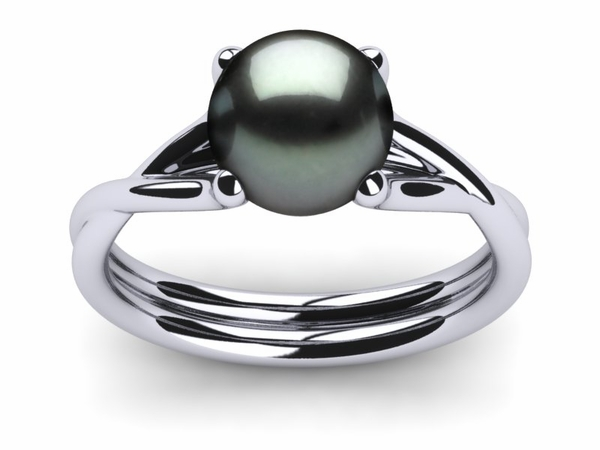 Tahitian Pearl Twisted Style Ring