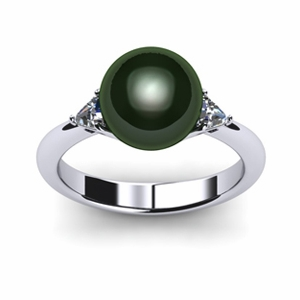 Trillion Tahitian Pearl Ring