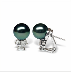 Trina a Black Tahitian South Sea Cultured Pearl Earring