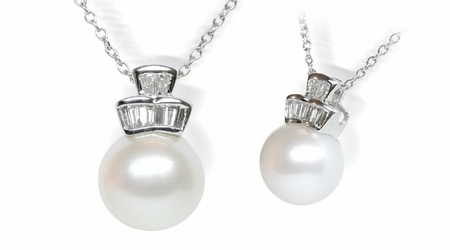 Trina a White South Sea Cultured Pearl Pendant