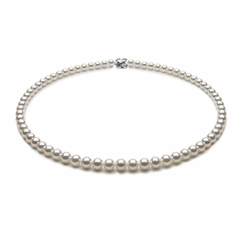 TRUE AAA Quality 6 x 6.5mm Natural White Akoya Cultured Pearl Necklace