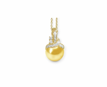 Venus a Golden South Sea Cultured Pearl Pendant