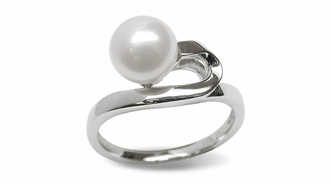 Verna a Japanese Akoya Cultured Pearl Ring