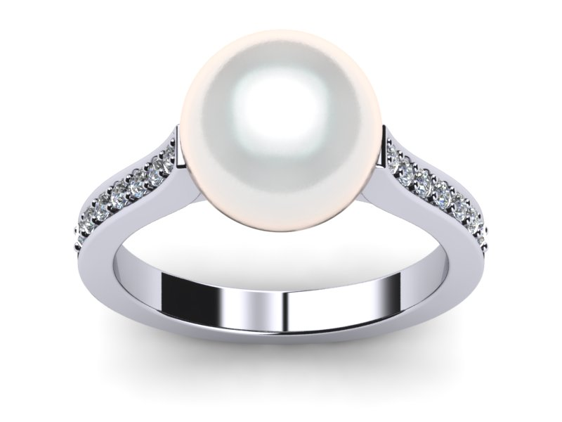 White South Sea Helix Pearl Ring