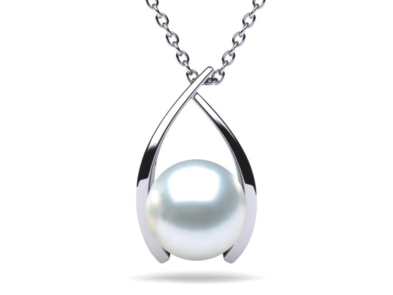White South Sea Pearl Classic Wish Pendant