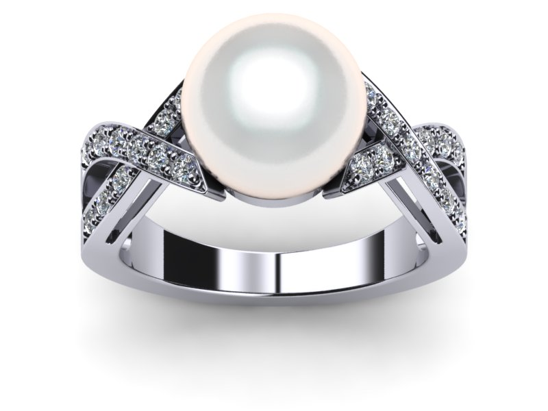 White South Sea Pearl Ring Deluxe X