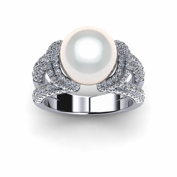 White South Sea Pearl Trophy Ring