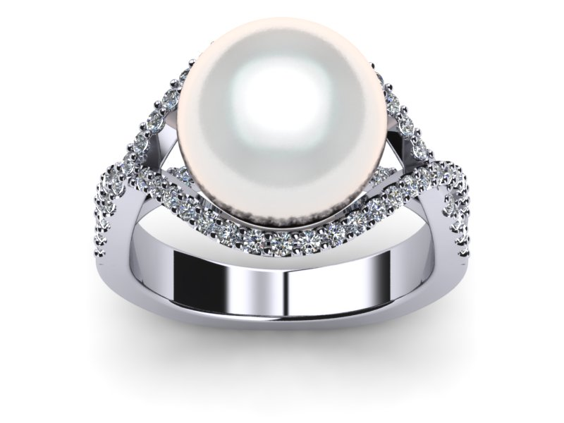 White South Sea Pearl Twist Ring