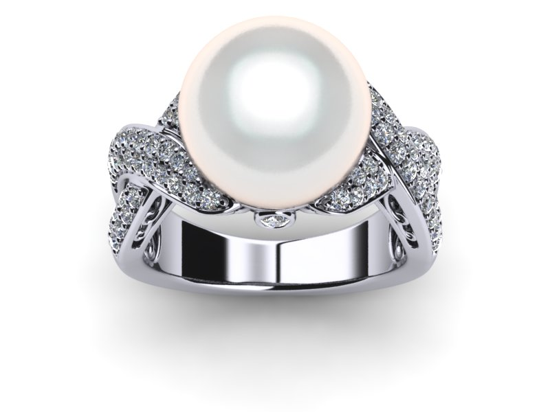 White South Sea Pearl Xenia ring