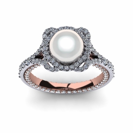 White South Sea Rose Ring