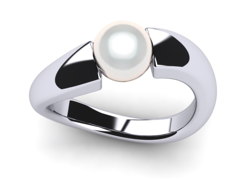 White South Sea Tension Pearl Ring
