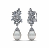 White South Sea Versailles Earring