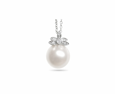 White Walnut a White South Sea Cultured Pearl Pendant