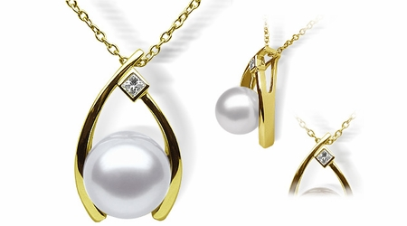 Wish a White Australian South Sea Cultured Pearl Pendant