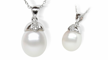 Zib a White South Sea Cultured Pearl Pendant