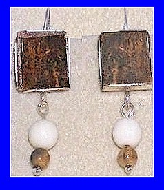 Bering Sea Yupik - Koskokwim DeltaCeremonial Earrings IIFossil Walrus Ivory With Mammoth Beads$39.50