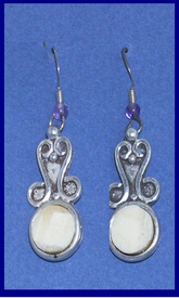 ClassicSterling SilverApplique EarringsFossil Walrus Ivory$49.50