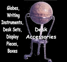 Gallery of Scrimshaw Writing Instruments, Globes, Boxes, Display Pieces