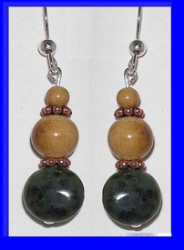 Pacific Athapascan Bead Earrings IIridescent Freshwater Pearl and Mammoth Ivory $65.50