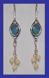 TlingitWoman Shaman'sEarrings IIOpal and Mammoth Ivory$39.50