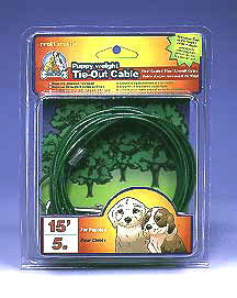 15 Foot Puppy Weight Dog Tie Out Cable