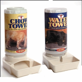3 quart Automatic Waterer & Feeder SET