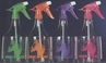 3 Spray Bottles 36oz. Clear PVC assorted Neon