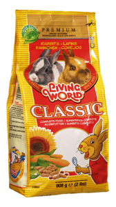 (61160) Living World Premium Rabbit Mix, 2 lbs., standup zipper bag