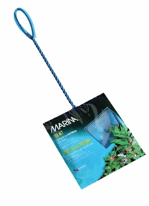 "(A1275) Marina 5"" Blue Fine Nylon Net w/10"" Handle"