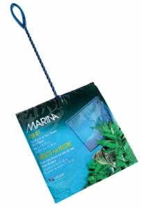 "(A1277) Marina 8"" Blue Fine Nylon Net w/12"" Handle"