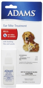 Adams Ear Mite Lotion - .5 oz  (formerly Zema Ear Miticide) Dogs & Cats