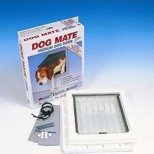 Ani Mate Door Dog W/Liner Medum White