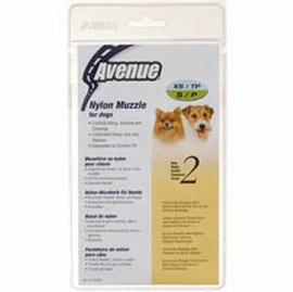 Avenue Nylon Dog Muzzle, Size 2, Black