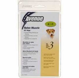 Avenue Nylon Dog Muzzle, Size 3, Black