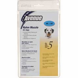 Avenue Nylon Dog Muzzle, Size 5, Black