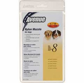 Avenue Nylon Dog Muzzle, Size 8, Black