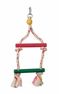 "(B1100) Junglewood 2-Step Rope Ladder, Small, 6"" x 14"""
