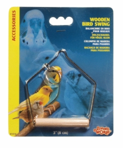 "(B1510) Living World Wooden Perch Swing, 3""L x 4""H"
