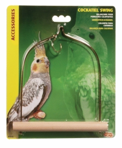 (B1515) Living World Cockatiel Swing w/ Wooden Perch