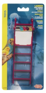 (B1638) Living World Plastic Ladder w/ Mirror & Beads