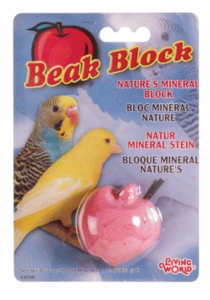 (B2185) Living World Mineral Block, Apple (For Parakeets), 35g