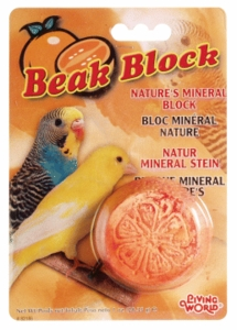 (B2186) Living World Mineral Block, Orange (For Parakeets), 55g