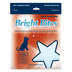 Bright Bites Daily Dental Tasty Cinnamon Flavor Large Dog Treats 2.5-lb.