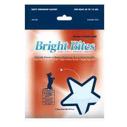 Bright Bites Daily Dental Tasty Cinnamon Flavor Small Dog Treats 6-oz.