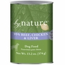 By Nature Natural 95% Meat Beef, Chicken and Liver Formula Canned Dog Food 12/13-oz cans
