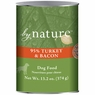 By Nature Natural 95% Meat Turkey and Bacon Formula Canned Dog Food 12/13-oz cans